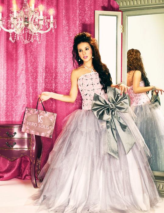 ... en pasarela de 15 un vestido de su diseñadora exclusiva, Vero Solís