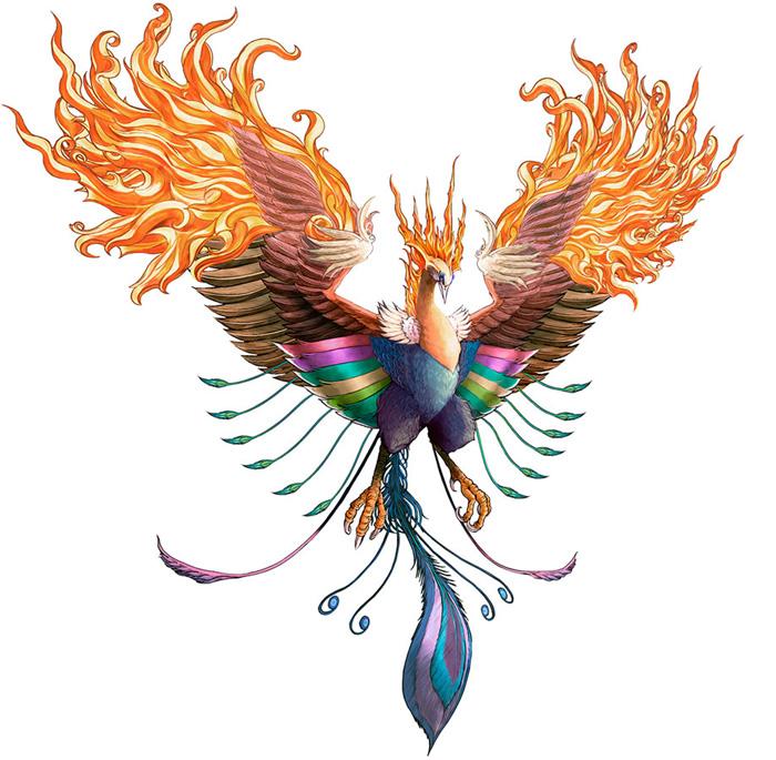 Dibujo de ave Fénix - Imagui