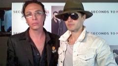 El periodista Gerardo Jiménez y el ídolo Jared Leto.