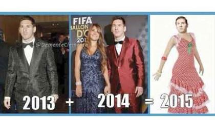 """""""Messi, ya tiene su traje para el 2015""""."""
