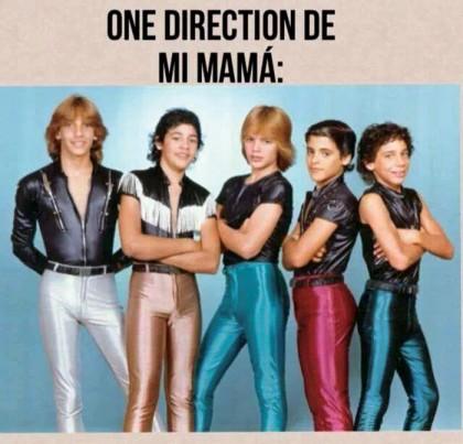 Hoy, en el 2014, la banda que se le puede comparar con Menudo en cuanto a éxito se llama One Direction, es por ello que los usuarios de las redes sociales crearon este maravilloso meme.
