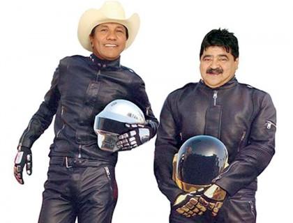 """Los memes se burlan diciendo que sin los cascos el dúo de Daft Punk es conformado por Lupe y el fallecido """"Choche"""", del grupo Bronco."""
