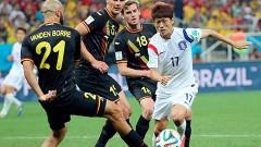 Sao Paulo, Brasil.- Pese a los esfuerzos de los jugadores coreanos, no pudieron minar la defensa de Bélgica y terminaron perdiendo 1-0.