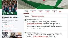 El presidente Enrique Peña Nieto felicitó a los jugadores de la selección nacional de futbol y les agradece su actuación en la justa deportiva.