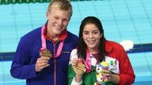 La pareja formada por la mexicana Alejandra Orozco y el noruego Daniel Jensen obtuvieron el primer lugar en la prueba de clavados por equipos mixtos internacionales.