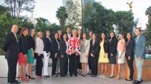 Margarita Valle -al centro- con los representantes del Starwood Week 2014.
