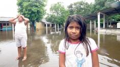 En estas condiciones han quedado las callesde las poblaciones de Quintana Roo, debido a las bandas nubosas que trajo la depresión tropical número 9.