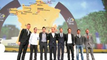 Ciclistas que participarán en el Tour de Francia 2015 asistieron a la presentación de la justa deportiva.