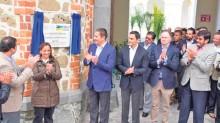 En la inauguración del hotel Misión Grand Ex Hacienda Chautla.