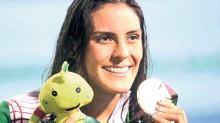 Fernanda González obtuvo la medalla de oro en la prueba de natación de 200 metros dorso.