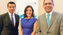 Adolfo Urti, Paula Hurtado y Mauro Arredondo.