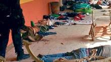"""Peritos médicos revisaron los seis cuerpos hallados en el Rancho del Sol"""", para detectar lesiones en los cadáveres."""