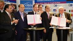 Eruviel Ávila, gobernador del Estado de México, signó con su homólogo Jean Paul Bachy, presidente del Consejo Regional Champagne Ardenne y de la Comisión de Asuntos Internacionales y Cooperación descentralizada de la ARF, una carta de intención.