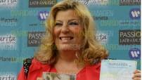 """Margarita """"La Diosa de la Cumbia"""" presentó su disco """"Sin Fronteras"""" y su libro """"El lugar donde habitan tus sueños"""". foto Asael Grande"""