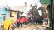 Aumentó de 91 a 412 en once colonias número de viviendas afectadas por el tornado registrado en San Cristóbal.