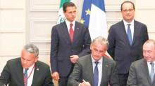 Los presidentes de México y Francia, testigos de la firma del Memorándum de Entendimiento.