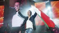 """Con """"Vivir mi vida"""" Marc Anthony cerró el primero de sus conciertos en el Coloso de Reforma. Foto Sergio Bautista/Ocesa"""