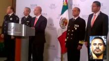 Renato Sales Heredia, comisionado nacional de Seguridad, dio a conocer la captura del narco Javier Guerrero Covarrubias.