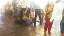 El ex gobernador Fernando Moreno peña sufrió un atentado cuando desayunaba en un restaurante de la ciudad de Colima.