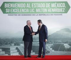 Eruviel Ávila - Firma de la Declaración Conjunta entre el Gobierno de la República de Panamá y el Gobierno del Estado de México.
