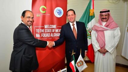 Promueve Eruviel Ávila ventajas para invertir en el Edomex en reunión con empresario kuwaití