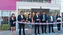 En la inauguración del hote en Silao, Guanajuato.