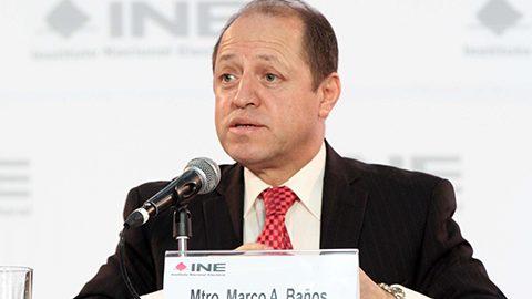 El INE solicitó un presupuesto para el próximo año por 11 mil 232 millones 566 mil pesos, anunció el consejero Marco Antonio Baños.