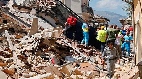 Las regiones más afectadas por el sismo son las de Lacio y Arquata del Tronto.
