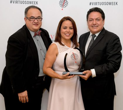 Óscar Molina, Karin Salinas y Alfredo Rentería.
