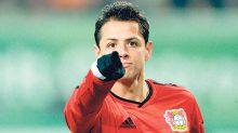 """Javier """"Chicharito"""" Hernández podría llegar este martes al centenar de goles en Europa."""