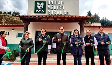 El gobernador Eruviel Ávila y el director general del IMSS, Mikel Arriola Peñalosa, inauguraron la Unidad Médica Rural en San Ignacio de Loyola.