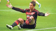 """El Bayer Leverkusen, con todo y Javier """"Chicharito"""" Hernández, cayó 6-5 ante el equipo de tercera división Sportfreunde Lotte."""
