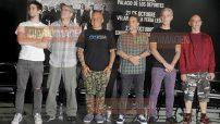 Vicentico, Sergio, Fernando, Señor Flavio, Mario, Dany,  Florián y Astor ofrecieron una conferencia de prensa, donde señalaron que la banda necesitaba evolucionar o morir y decidieron evolucionar al realizar un disco conceptual. (Foto: Arturo Arellano)